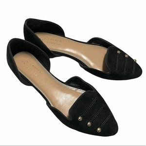 LC Lauren Conrad suede feel size 9 gold button flats